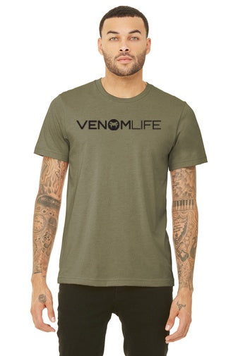 Bella and Canvas Olive Green Military Style T-shirt, 4.2-ounce, 100% Airlume combed and ring spun cotton, Unisex super soft material