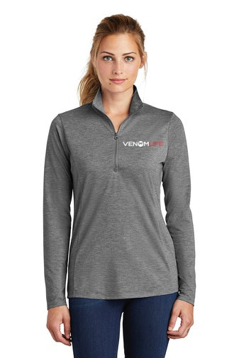 Tri-Blend Wicking Ladies 1/4 Zip Pullover