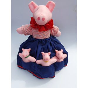 Mother Pig and Three Little Pigs Story Doll