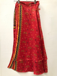 Silk Feel Sari Skirt