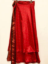 Load image into Gallery viewer, Silk Feel Sari Skirt