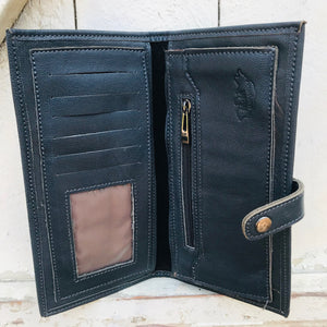Leather Wallet Vintage Large