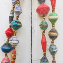 Load image into Gallery viewer, Paper Bead Necklace Long