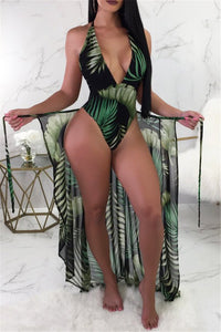 Printed Swimsuit & Cover Up Sets