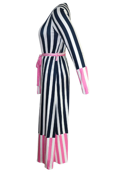 Striped Printed Swimsuit & Cover Up Sets - ezcute