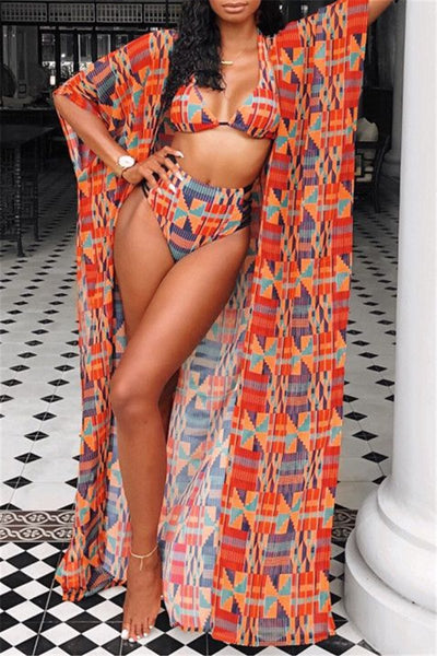 Digital Printed Bikini & Cover Up Sets - ezcute