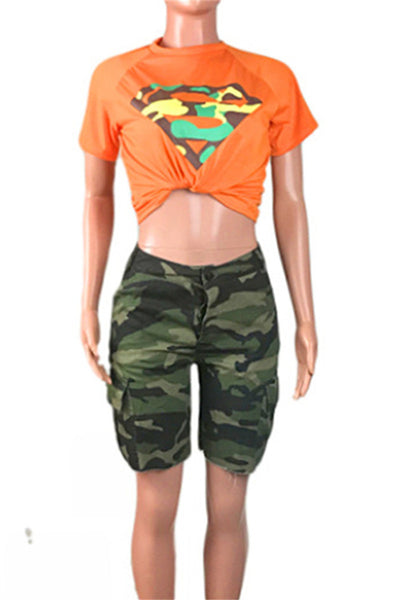 Camo Printed Two PC Sets - ezcute