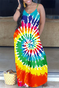 Color Changing Printed Cami Maxi Dress - ezcute