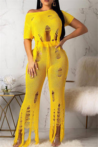 Distressed Tassel Two PC Sets - ezcute