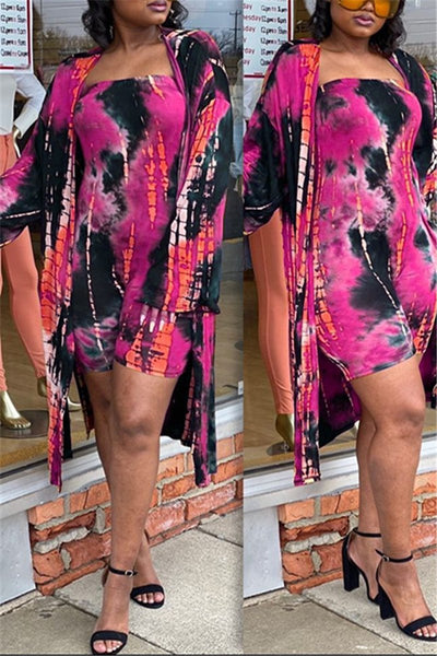 Tie Dye Romper& Cover Up Sets