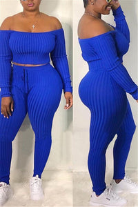 Solid Color Off Shoulder Pit Article Sets