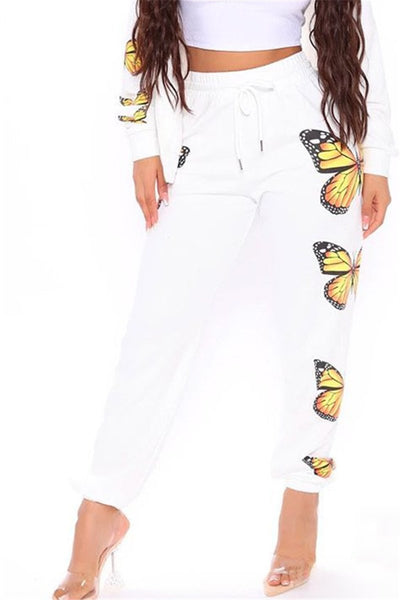 Casual Butterfly Printed Womens Pants