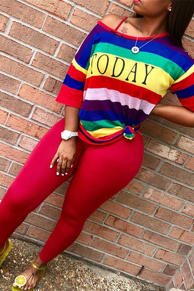 Rainbow Top with Legging Sets - ezcute