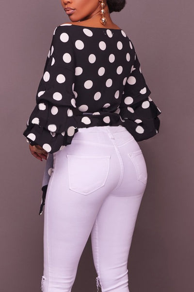 Black & White Polka Dot Shirt - ezcute