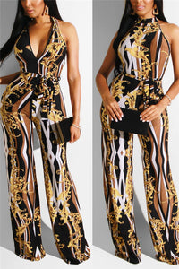 Two Ways Wearing Printed Jumpsuit