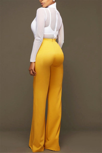 High Waist Wide Leg Pants - ezcute