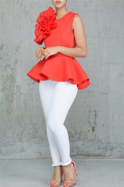 Front Rose Flower Top - ezcute