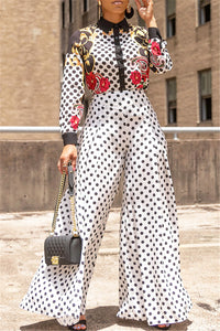 Polka Dot Wide Leg Pants - ezcute