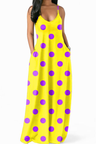Polka Dot Maxi Dress - ezcute