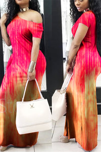 Tie Dye Maxi Dress - ezcute