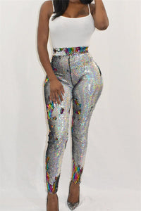 Colorful Shining Sequin Pants - ezcute