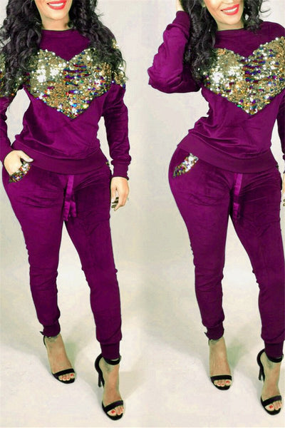 Sequin Splicing Two PC Sets - ezcute
