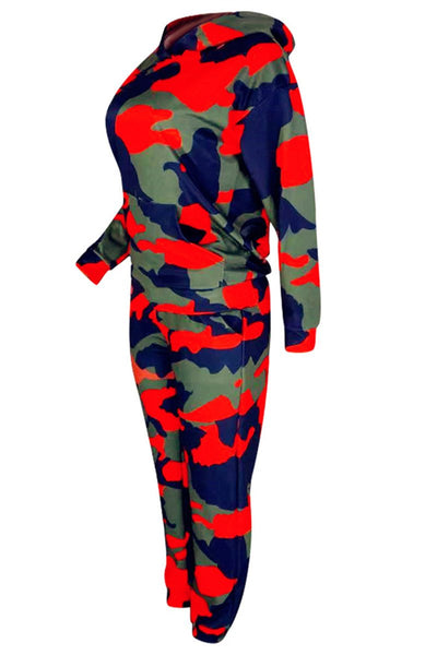 Camo Printed  Pocket Two PC Sets - ezcute
