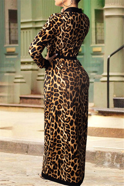 Leopard Printed Coat&Pants Sets - ezcute