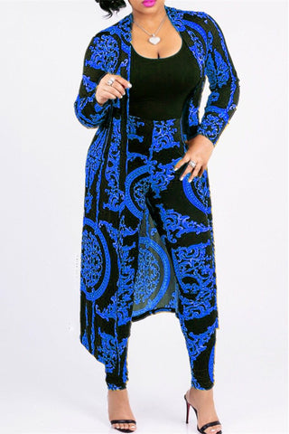 Printed OverCoat&Pants Sets - ezcute