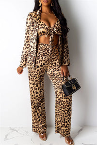 Leopard Printed Three PC Sets - ezcute