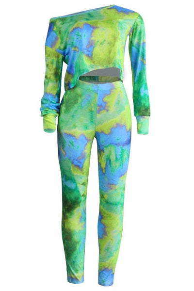Casual Tie Dye Two PC Sets - ezcute