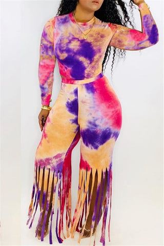 Tie Dye Tassel Two PC Sets - ezcute