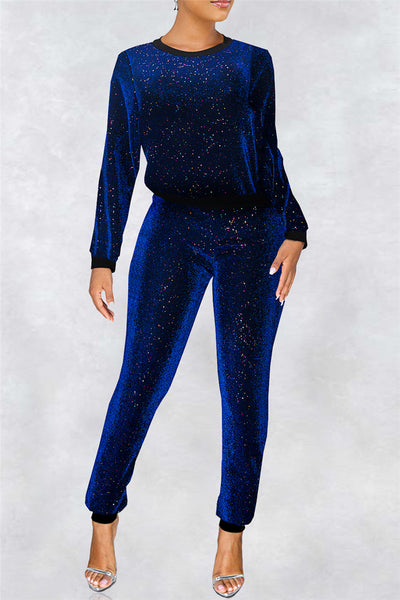 Sequins Splicing Two PC Sets - ezcute