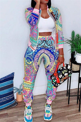 Casual Printed Two PC Sets - ezcute