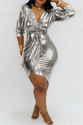 Hot Stamping Bandage Dress - ezcute