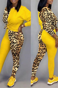 Leopard Splicing Two PC Sets - ezcute