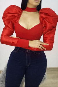 Plus Size Bubble Sleeve Top