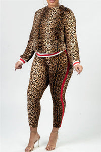 Leopard Printed Two PC Sets - ezcute