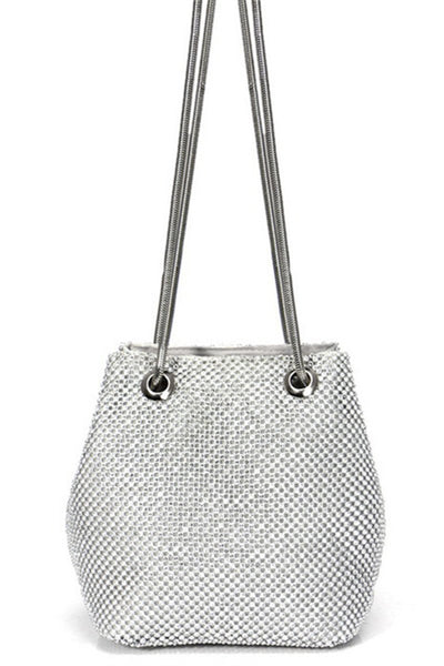 Metal Rhinestone Evening Clutch - ezcute