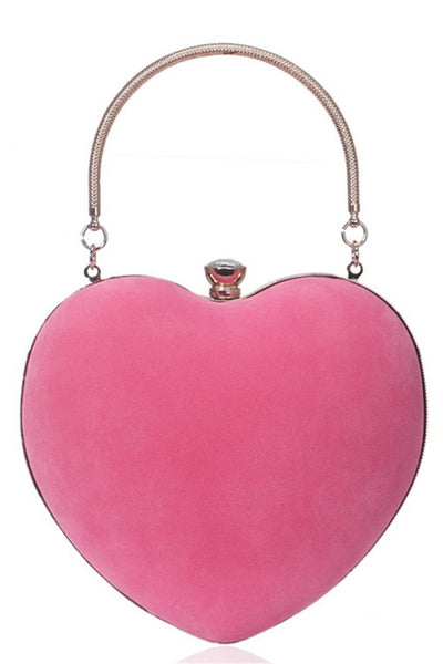 Heart Shaped Evening Handbag - ezcute