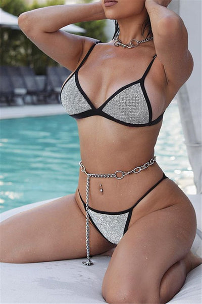Rhinestone Bikini Two PC Sets - ezcute