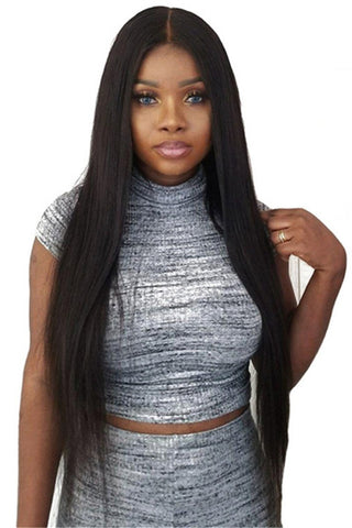 Straight Long Black Hair Wigs - ezcute