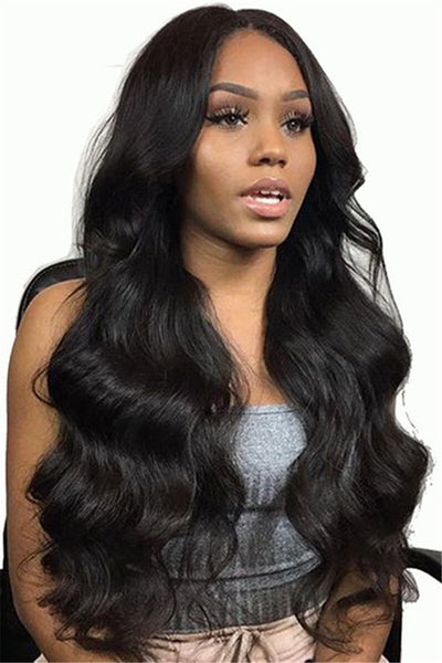 Curly Long Black Hair Wigs - ezcute