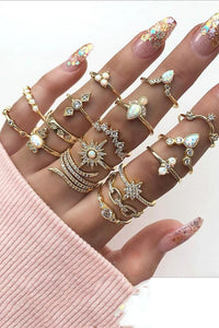 Trendy 17-piece Jewellery Ring - ezcute