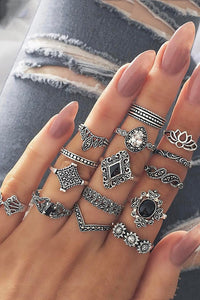 Trendy 15-piece Lotus Ring - ezcute