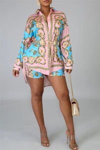 Casual Printed Shirt& Shorts Sets - ezcute