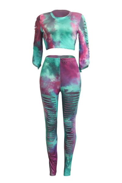 Tie Dye Distressed Sets - ezcute