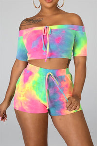 Tie Dye Top& Shorts Sets