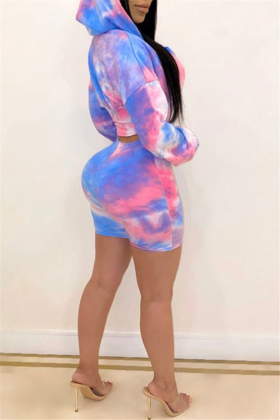 Tie Dye Hooded Two PC Sets