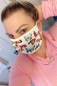 5PCS Butterfly Printed Face Mask